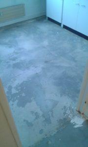 Sol de la cuisine (avec un meuble) retiré