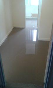 Nouveau sol dans le couloir