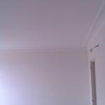 Murs et plafond de la chambre terminés